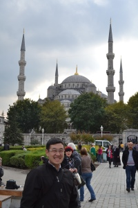 Me at the Blue Mosque, Istanbul, Turkey October, 2011