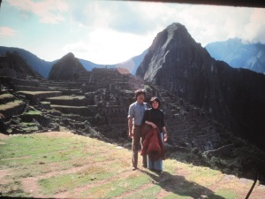 Mama and Papa in Macchu Picchu on their honeymoon in the 1970's