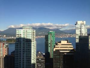 Downtown Vancouver, BC Looking at North Vancouver