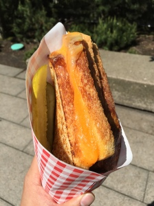 The Hammy Sr. Applewood smoked cheddar, rosemary ham, on Sourdough Mom's Grilled Cheese Truck Vancouver, BC