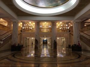 Hotel Ukraine (Radisson) Lobby Moscow, Russia