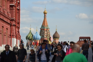 St. Basil's Cathedral on Red Square Moscow, Russia