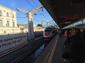 Sapsan High Speed Train to St. Petersburg Moscow, Russia