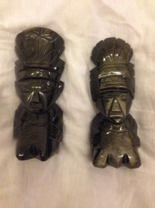 "Are these real? Not sure. But these were way cheaper than the ""official"" obsidian pieces and just as pretty."