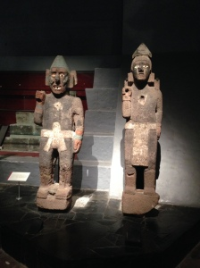 Art inside the museum in the Templo Mayor