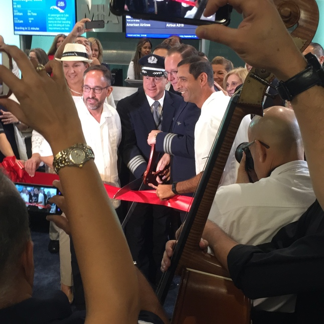 Cutting the Ceremonial Ribbon