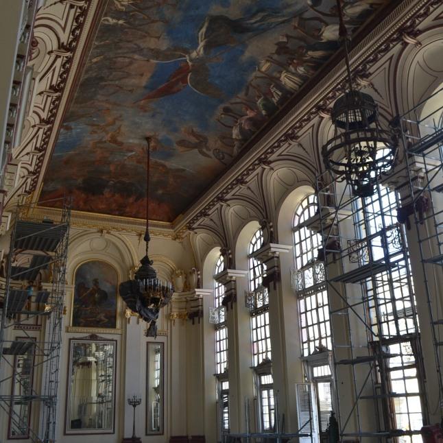 One of the halls inside the Museo de la Revolución (under renovation)