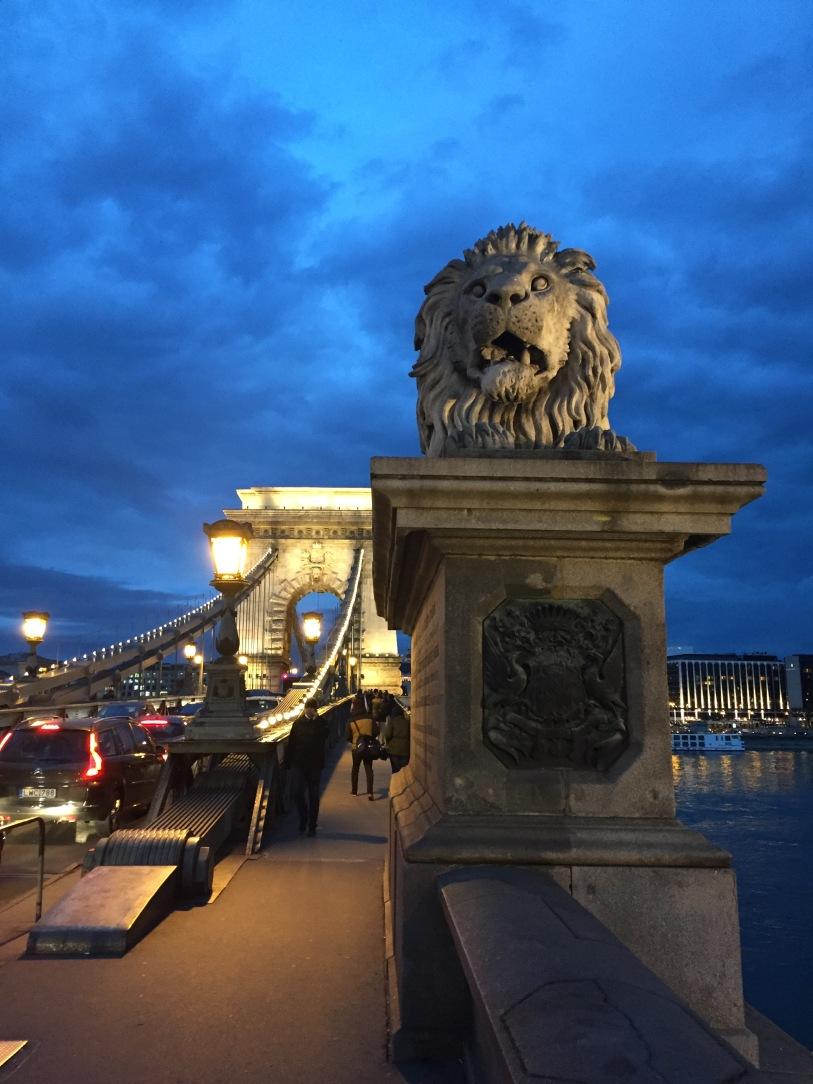 The Lion guards the Chain Bridge