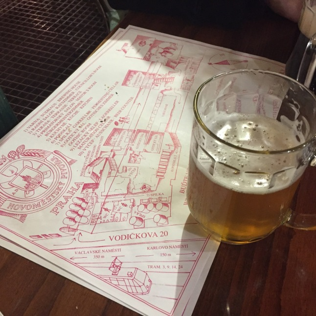 Locally made beers at Novomestsky Pivovar