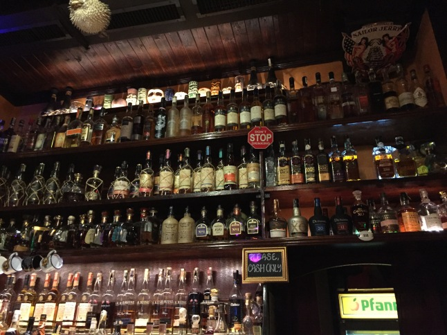 One of several walls of rum