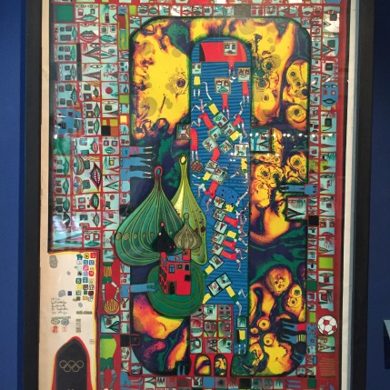 One of Hundertwasser's pieces for the 1972 Munich Olympic Games