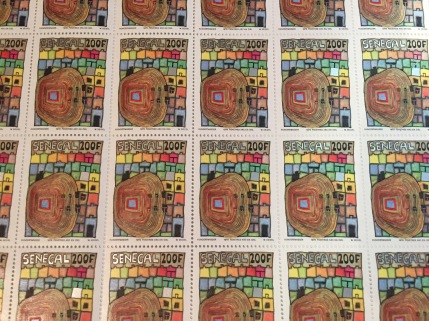 Hundertwasser's designs for Senegalese stamps