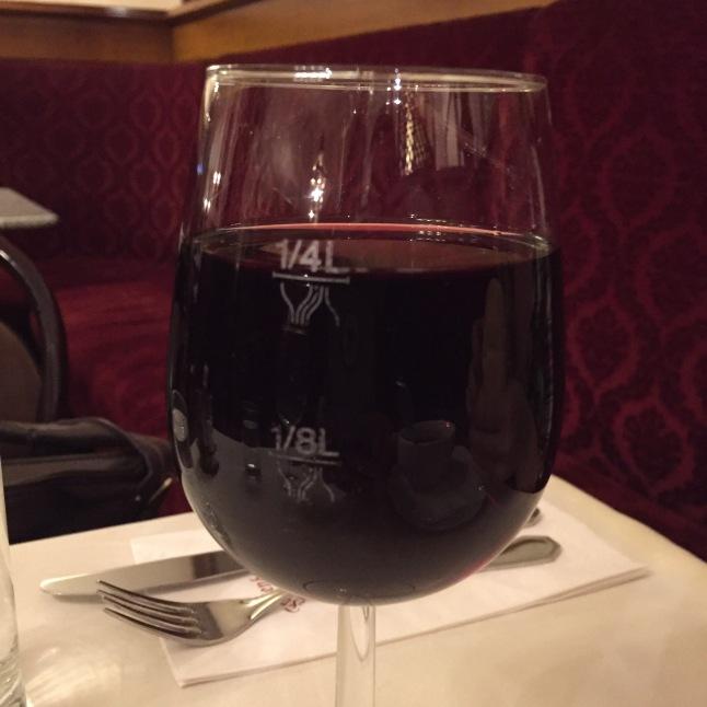 A monstrous pour of wine