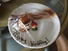 Tasty wedding treat waiting in our fridge