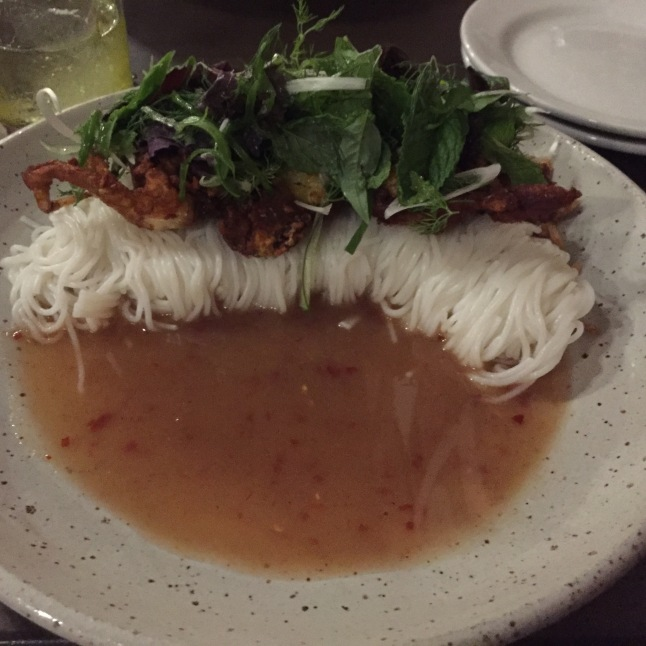 Soft Shell Crab Cha Ca (rice vermicelli) The Pig and the Lady