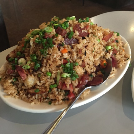 Lup cheong fried rice