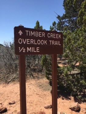 The Timber Creek Trail sign