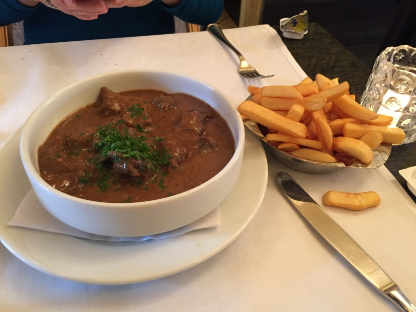 Carbonnade à la Flamande with pommes frites