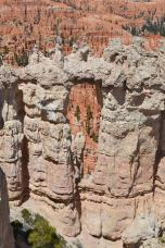 You'll notice erosion leaving its mark on the rocks down the below
