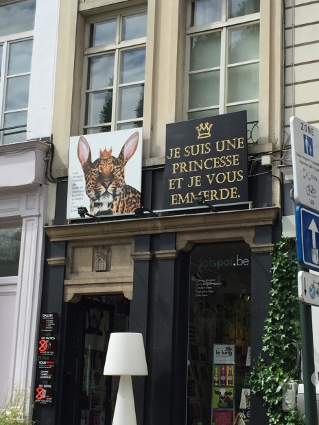 "This sign above a shop says ""I'm a Princess, so f*cking deal with it."""