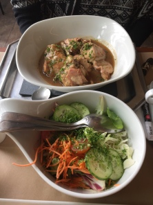 Rabbit and salad