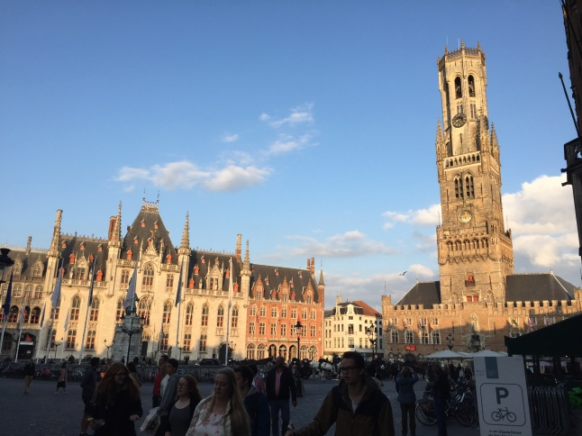The view from the Markt near sunset