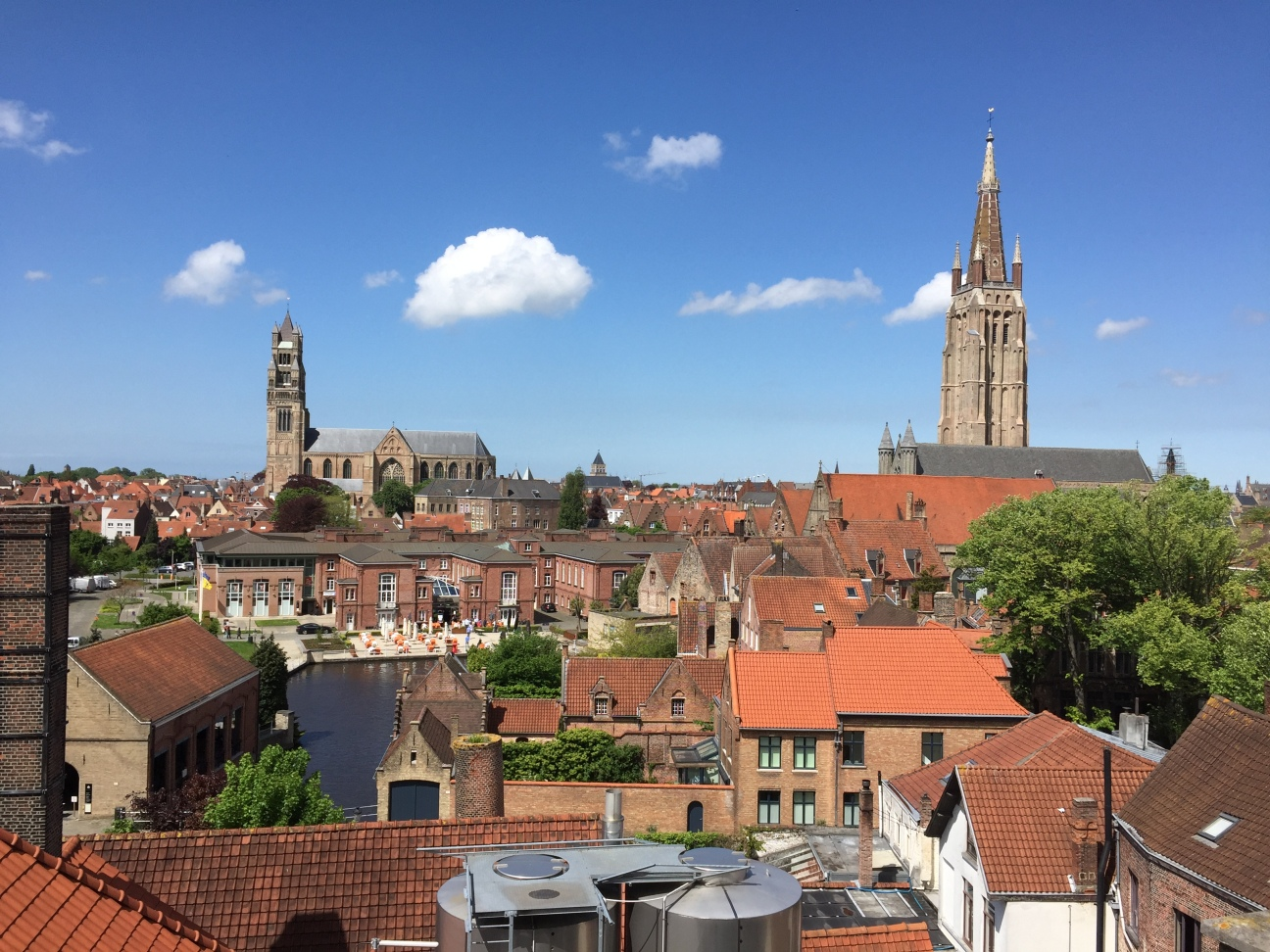 Gorgeous Rooftop View of downtown Bruges