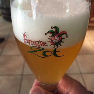 The blond Brugse Zot beer