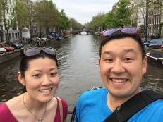 Anna and I on the canals