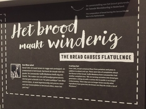 One of the exhibits on wartime diet