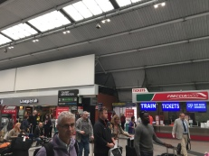 The Train Station Platform at Rome Fiumicino Airport