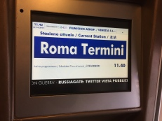 Arriving at Roma Termini station