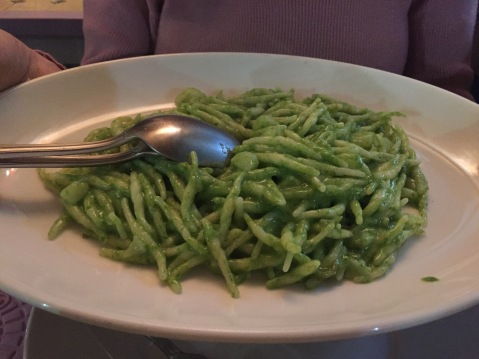 Trenette al pesto (Ligurian staple)