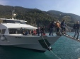 Disembarking from the boat
