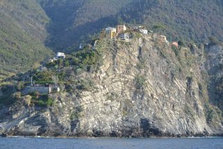 One of many homes that dot the coastline