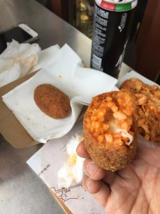 Arancini (although we ordered croquettes…grr)