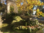 A beautiful fall morning walking in the Villa Borghese