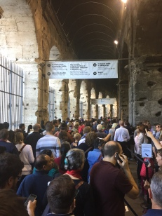 But even with dedicated Roma Pass lines, expect to wait inside the Colosseum