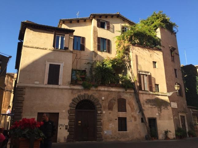 The charming plaza next to La Taverna degli Amici