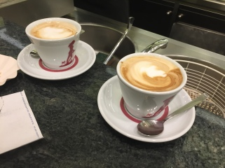Coffees at Tazza D'Oro