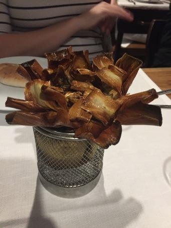 Jewish style artichokes