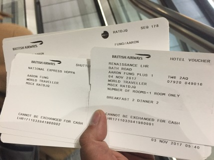 New tickets issued and a hotel confirmed by 6:44 PM