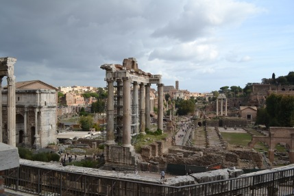 Our first glimpse of the Forum
