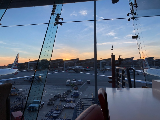 The view out the Flagship Lounge windows
