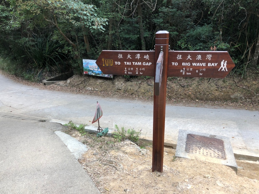 Go to Tai Tam Gap or deviate towards Big Wave Bay?