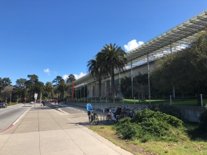 A stunningly clear day in Golden Gate Park, outside the Academy of Science