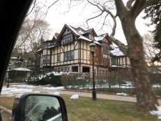 Large mansions are only a few blocks away from rundown neighborhoods