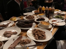 Dinner spread at Slows