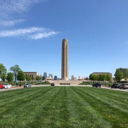 The Memorial from afar