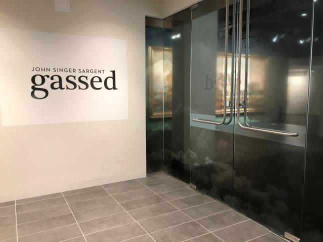"The exhibit based on John Singer Sargent's ""Gassed"""